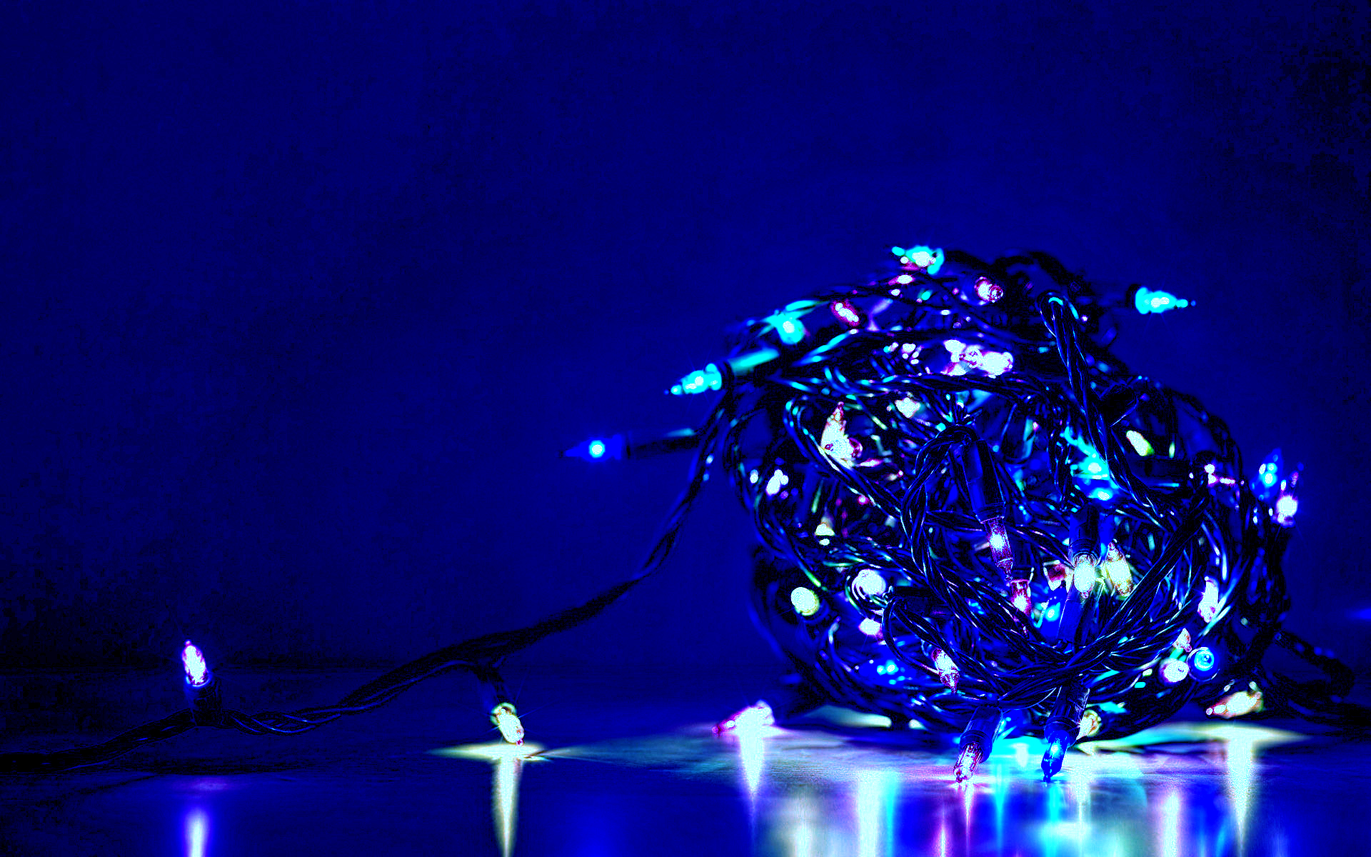 blue ball of lights